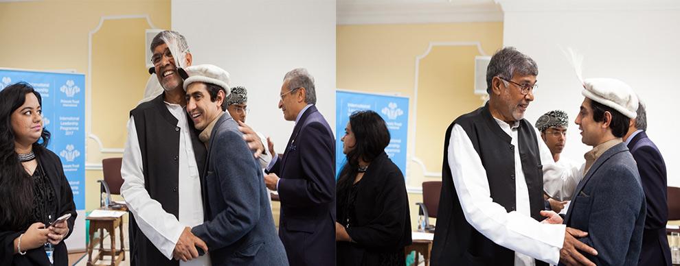 Zaman also met His Royal Highness Prince Charles