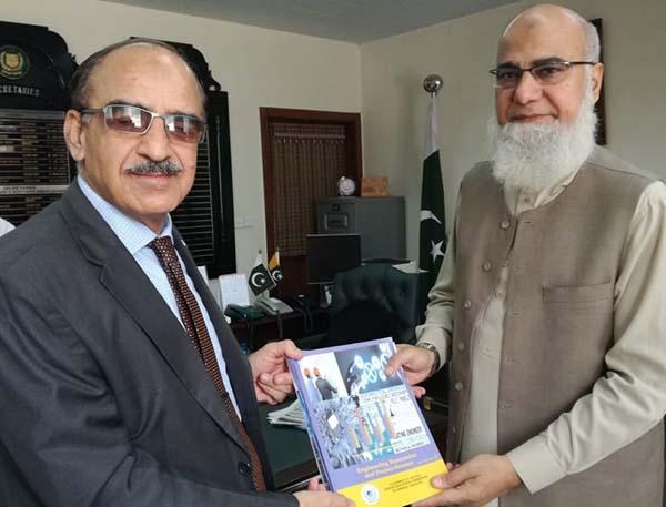 Dr Attaullah Shah Presented His Book To Secretary Kashmir Affairs And GB Mr Imtiaz A Shiekh