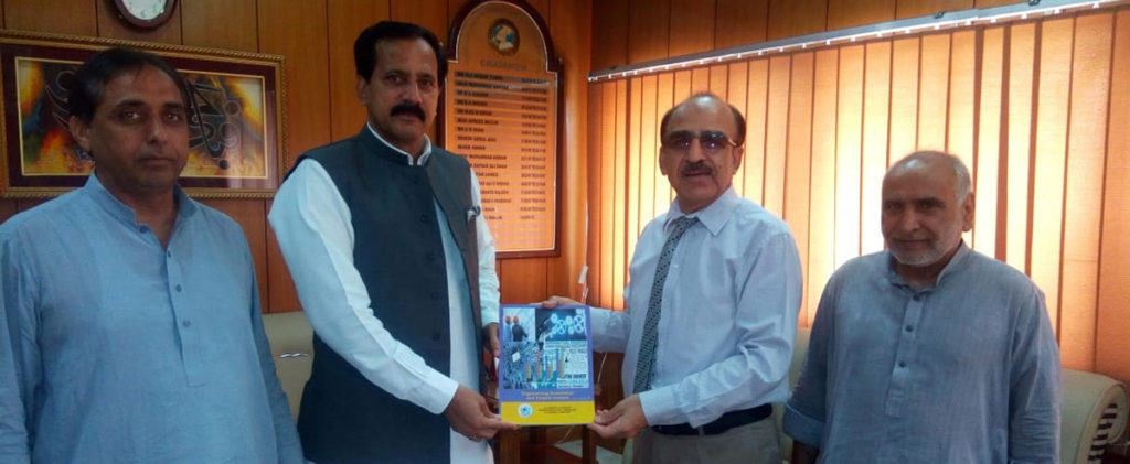 Vice Chancellor presented his book to Chairman FBISE