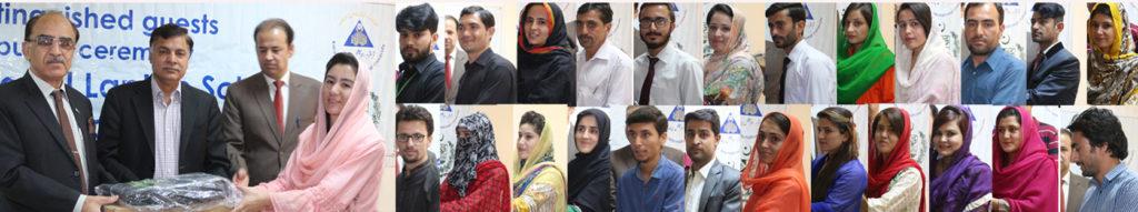Laptops distributed among 44 KIU students.