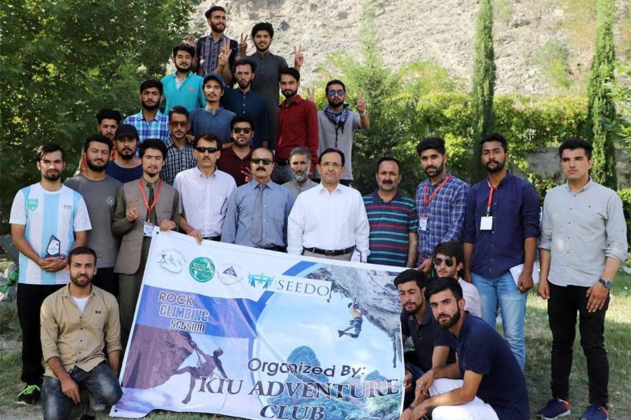 KIU Adventure Club organized a Rock Climbing Training session for the students of KARAKORAM INTERNATIONAL UNIVERSITY. In this event students of KIU, practically learned about the rock climbing skills. The experts guided students about rock climbing. Fifty students of KIU underwent climbing training on Mountain.